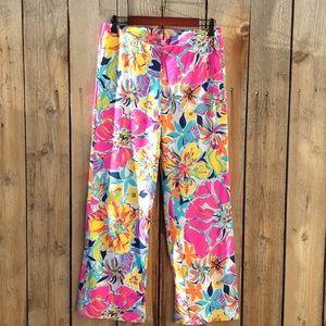 Lilly Pulitzer Pull on Pallazo Pants M pink label